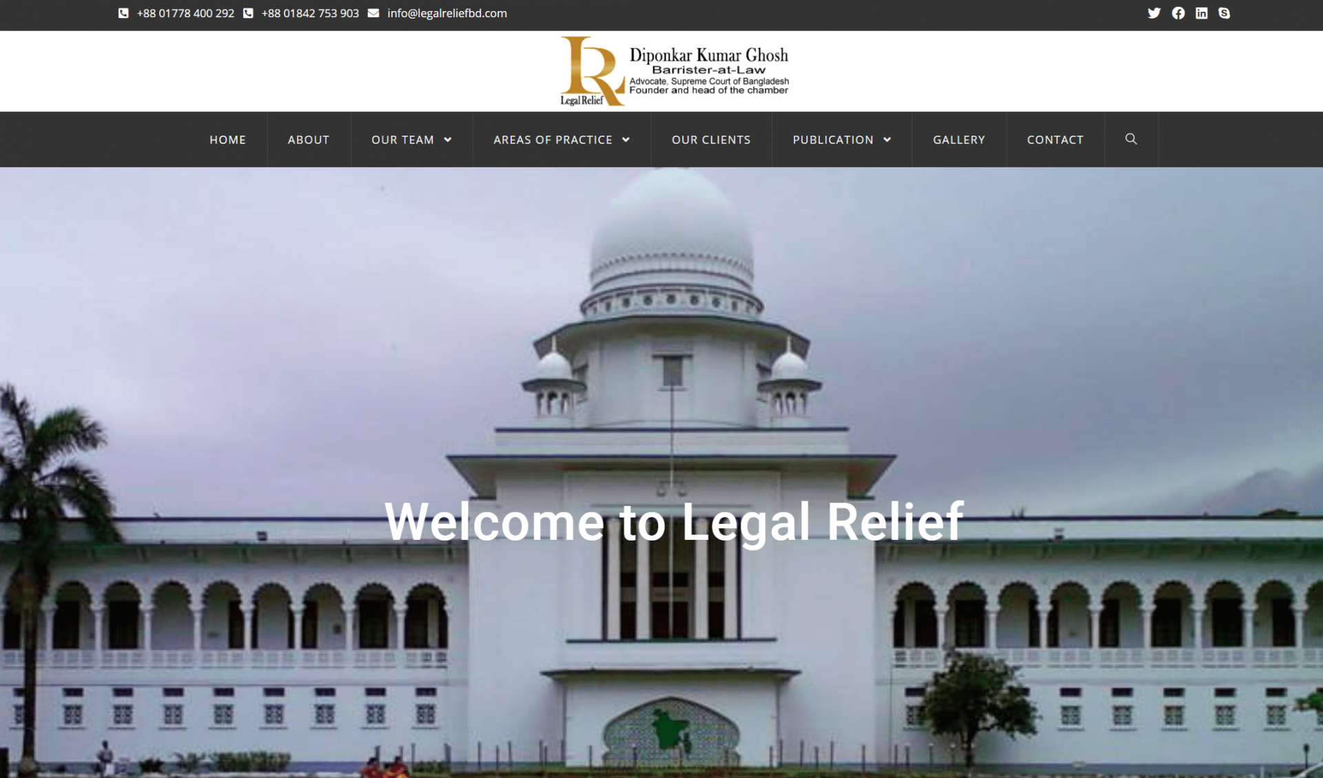 Legal Relief Custom Website Development Page 1
