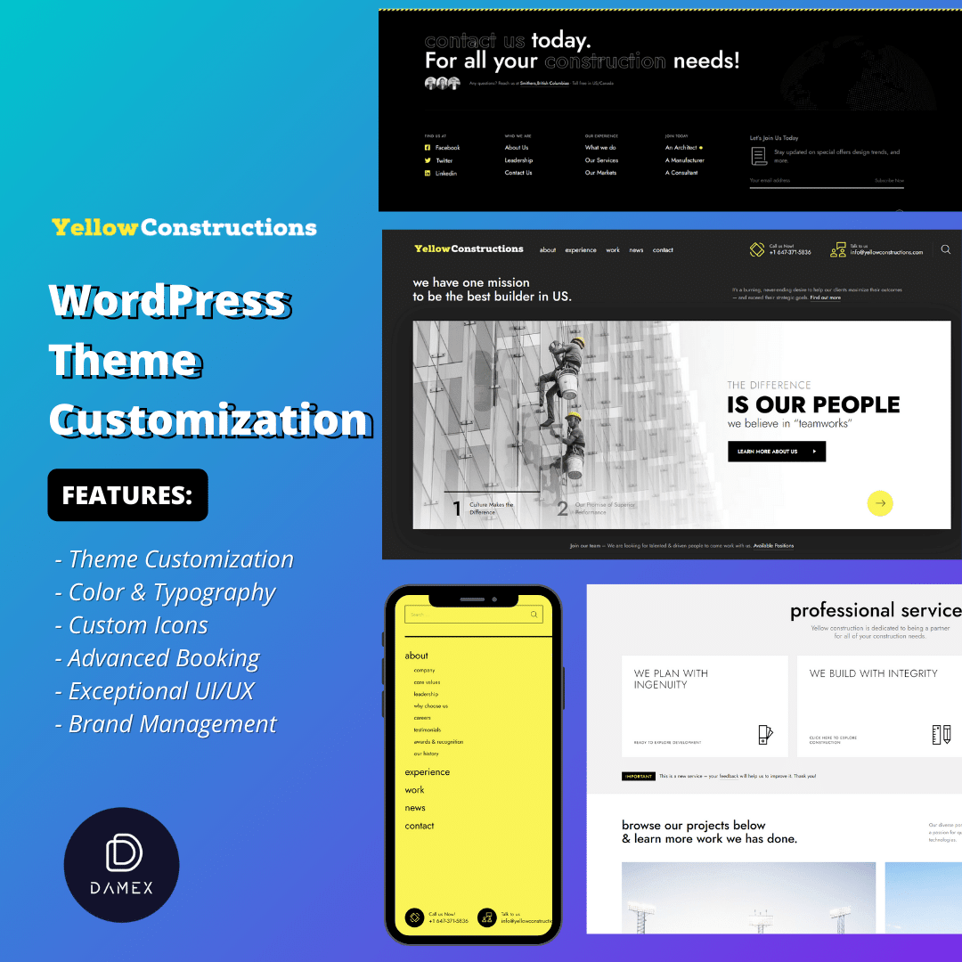 Yellow Construction Web Design & Development