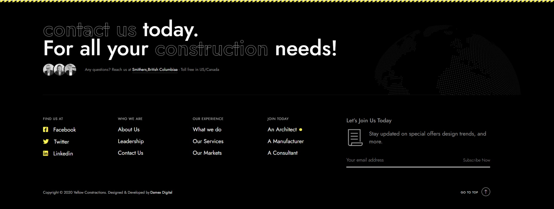 Yellow Construction Web Design & Development Page 4
