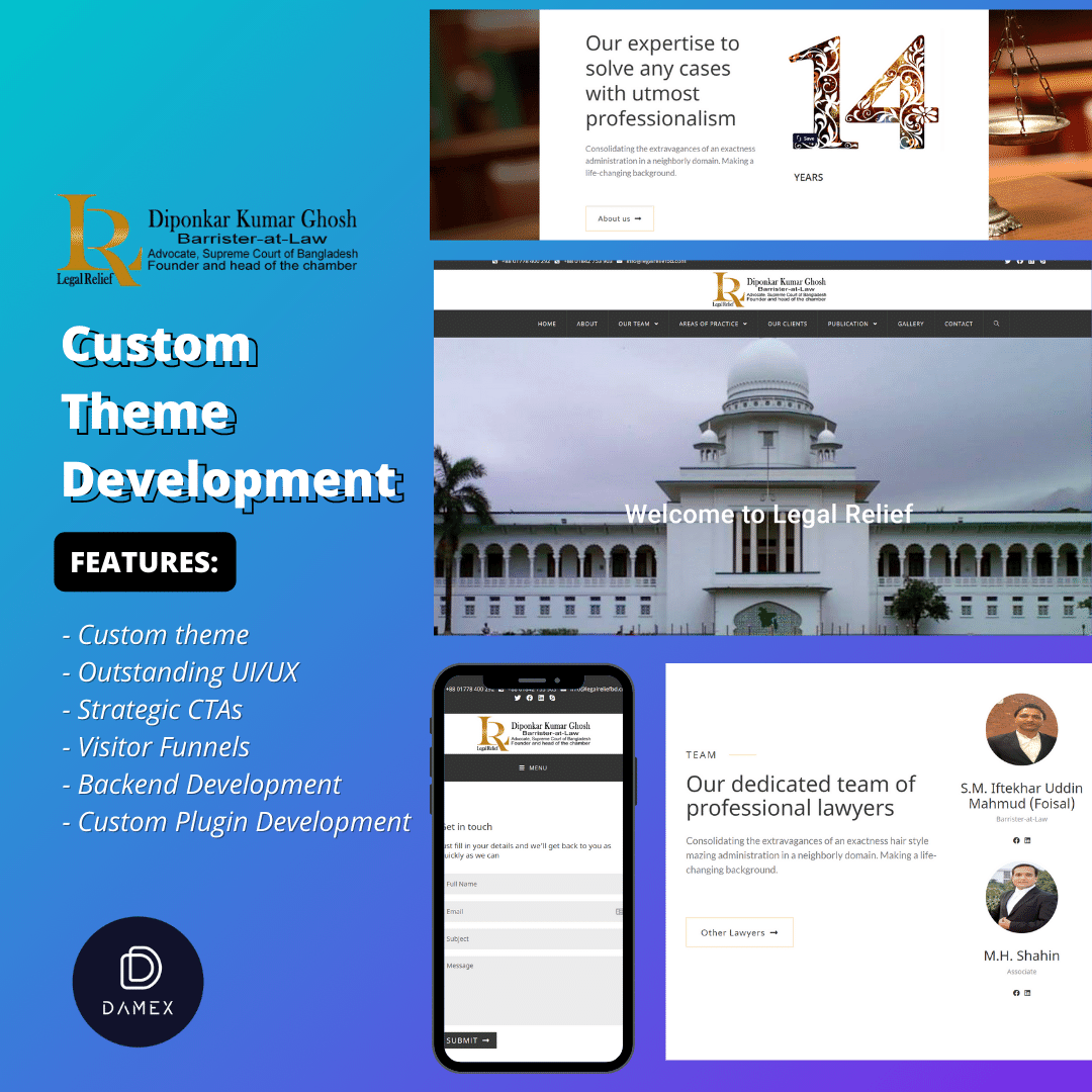 Legal Relief Custom Website Development